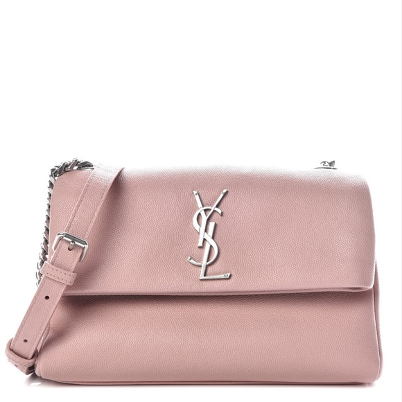 Yves Saint Laurent Handbags - {Saint Laurent} YSL Pale Blush Fold-Over Bag